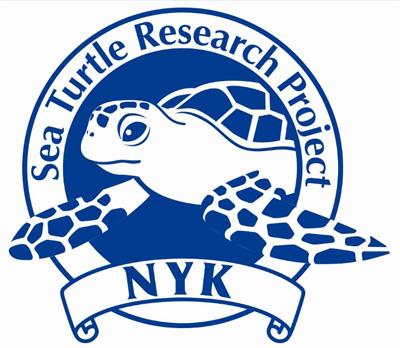 日本郵船のウミガメ調査ロゴマーク