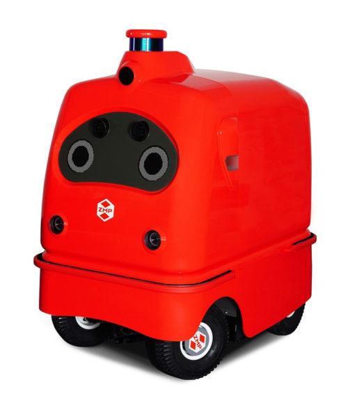 20180719zmp 500x585 - ZMP/宅配ロボット量産前モデル、ローソン等と実証実験