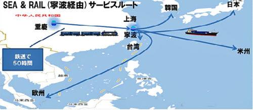SEA&RAIL(寧波経由)サービスルート