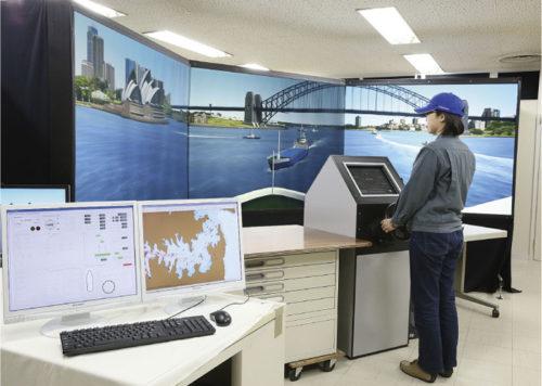 自動離着桟シミュレーションと実船検証イメージ