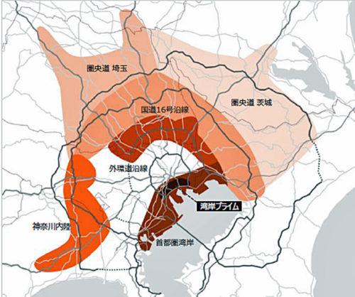 首都圏物流エリア地図