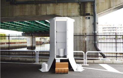 備蓄型組立式仮設トイレ「ほぼ紙トイレ」、組立後