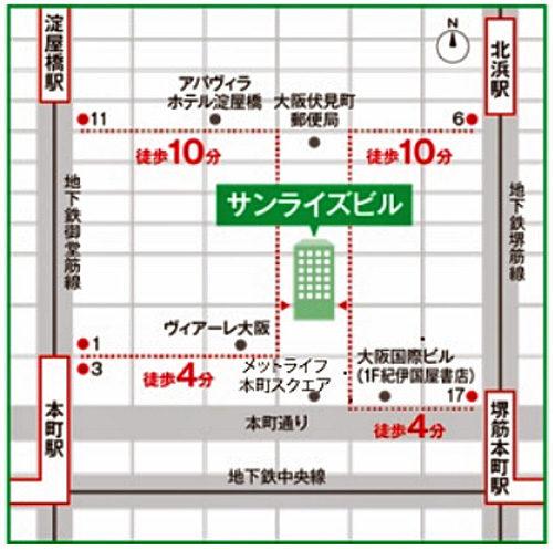 移転場所の地図