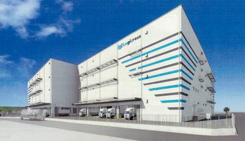 大阪西淀川物流センターの完成予想図