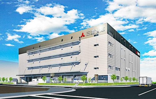 三菱倉庫の竣工予想図