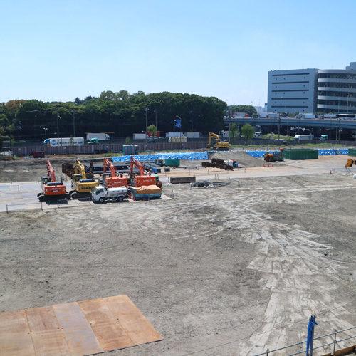 整備中の建設場所