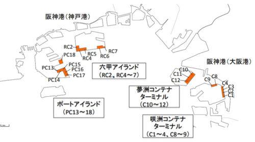 国際コンテナターミナル位置図