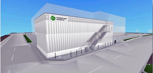 新設する加工場の完成予想図、背景が木津市場