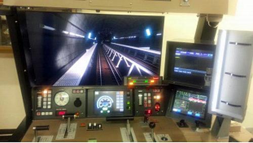青函トンネル走行中の画像