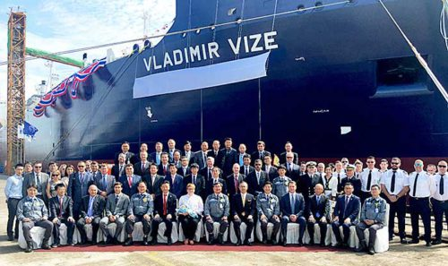 20180912mol2 500x297 - 商船三井/露LNGプロジェクト向け砕氷LNG船、「VLADIMIR VIZE」と命名