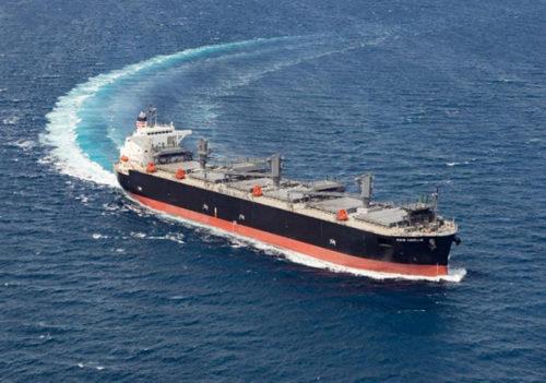 20180914hokuetsu2 500x351 - 北越コーポ/木材チップの輸送能力アップを図るため新チップ船就航