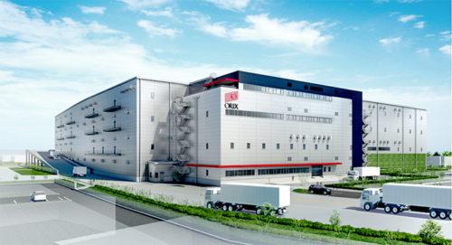 松伏ロジスティクスセンターの完成イメージ