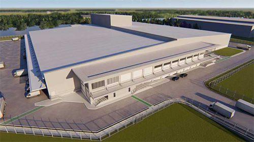防熱工事を受注した大型冷凍冷蔵倉庫