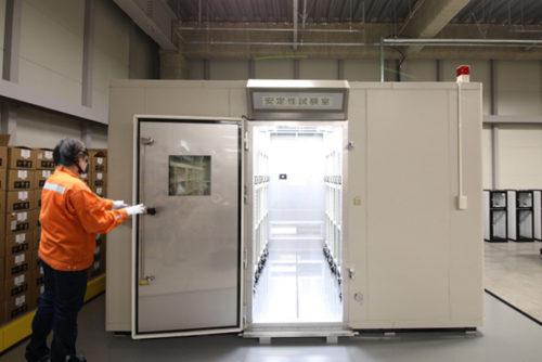 メディカルロジスティクスセンター内に新設した温湿度管理装置