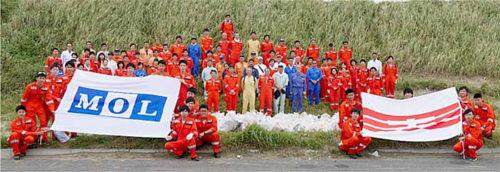 20181001mol 500x172 - 商船三井/鹿島灘海岸で清掃活動