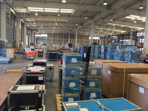 関空内倉庫に搬入された貨物