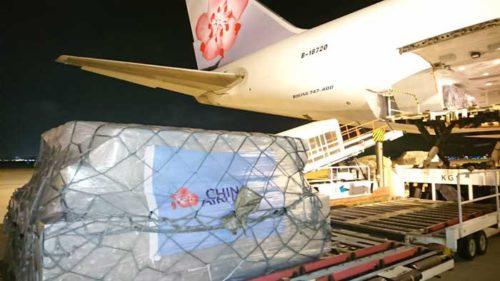貨物便への搭載(提供:チャイナ エアライン)