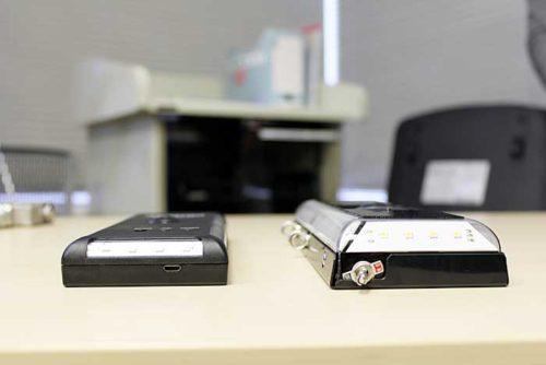 側面から見た(左)きらりNINJA-DSと(右)きらりNINJA