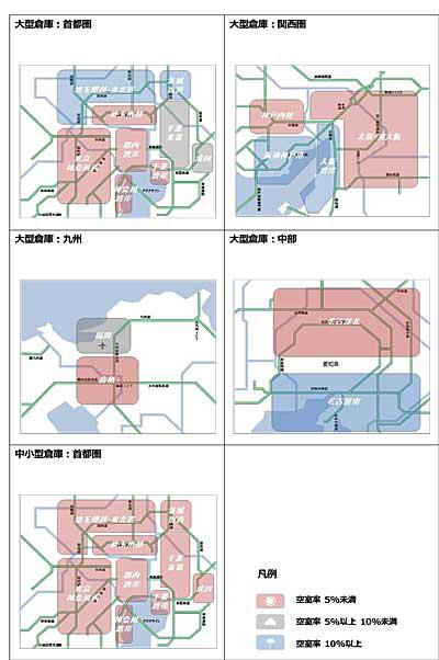 20181022cre - 関西で大型倉庫空室率/大幅改善