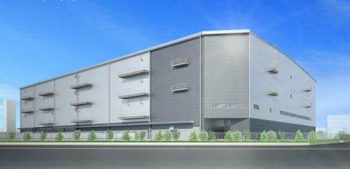 (仮称)茨木物流センターの完成予想図