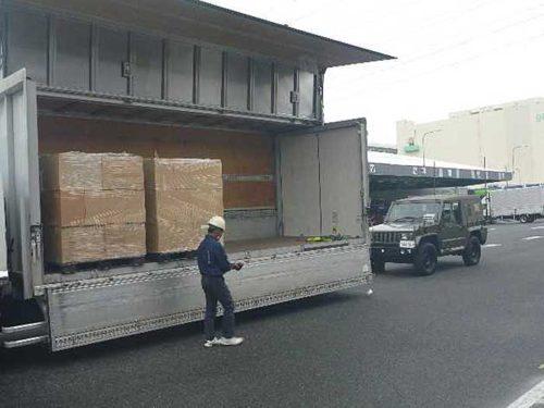 救援物資の確認