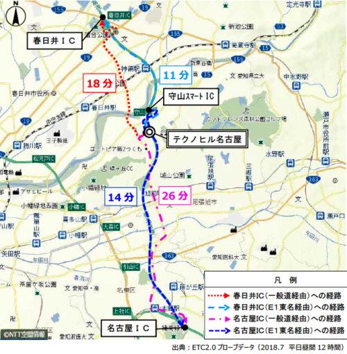 東名高速道路へのアクセス利便性の向上(速達性の向上)