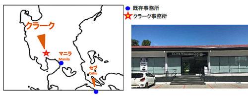 位置図とクラーク事務所