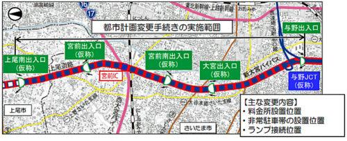 都市計画変更手続きの実施範囲