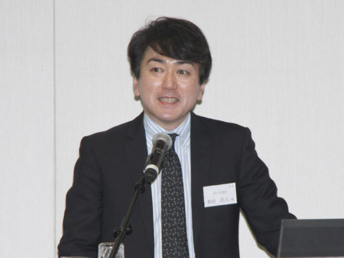 国土交通省大臣官房参事官(物流産業)の多田氏による講演