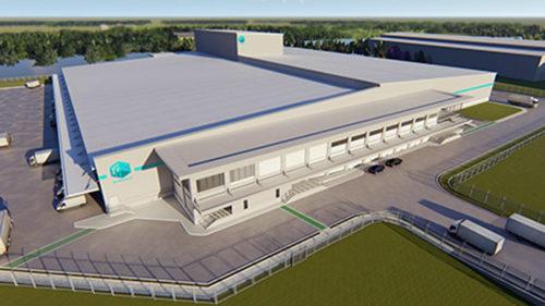 M-Senko Logistics 物流センター 完成予想図