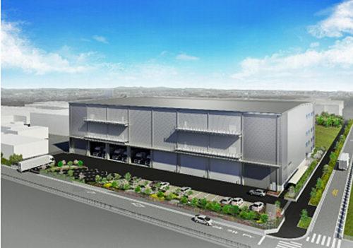 藤沢物流センターの完成イメージ図