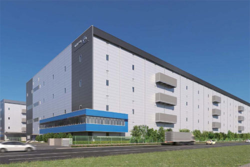 NTTロジスコ 千葉物流センター E棟完成予想図