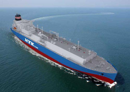 LNG船の完成予想CG