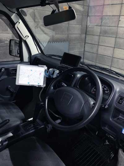 配送車へのシステム設置
