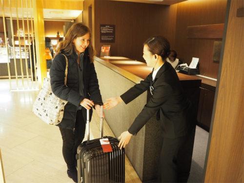 当日中に大阪市内のホテルで手荷物が受け取れる