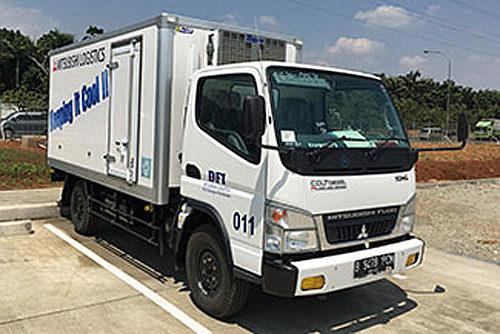 ハラル対応の低温輸送車両