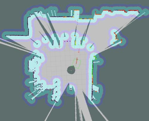 レーザーセンサーによる周辺環境の認識