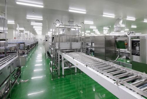物流センター内の食品工場