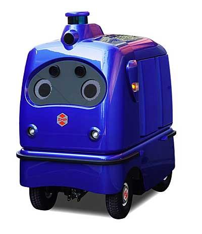 宅配ロボットCarriRo Deliのブルーカラー