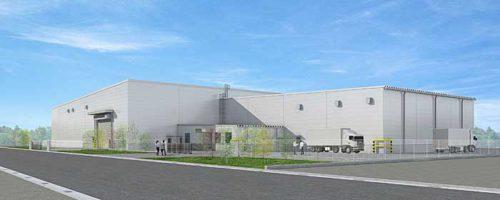 栃木物流センター第3倉庫の完成イメージ図