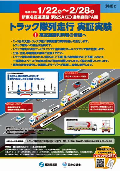トラック隊列走行のポスター