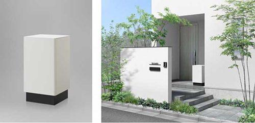 スマート宅配ポストTB(左)と設置イメージ(右)
