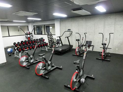 合宿所に新設されたトレーニングルーム