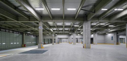 1階倉庫 天井高6.5m、床荷重1.8t