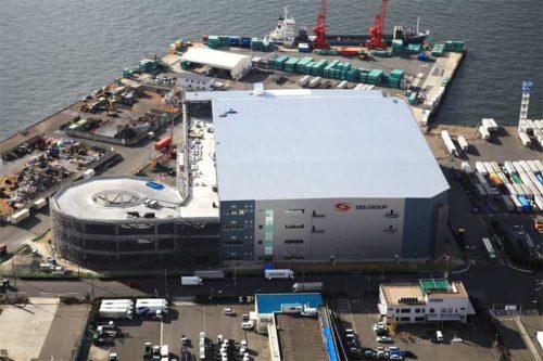 建設中の大阪南港物流センター