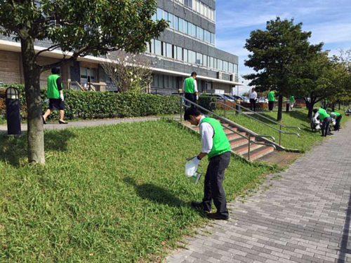 横浜貿易建物での清掃活動