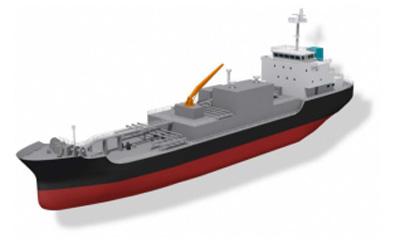 LNGバンカリング船の参考図