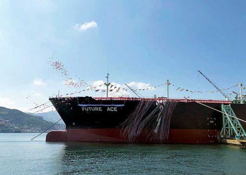 20190313mitsubishizousen 500x356 - 三菱造船/JXオーシャンの大型LPG運搬船「FUTURE ACE」と命名
