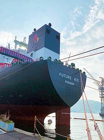 20190313mitsubishizousen2 - 三菱造船/JXオーシャンの大型LPG運搬船「FUTURE ACE」と命名