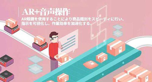 AR眼鏡で指示を可視化し、作業者の商品識別スピードを向上